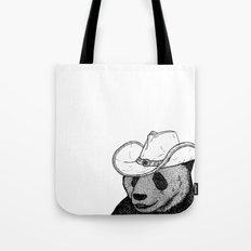 Cowboy Panda Tote Bag