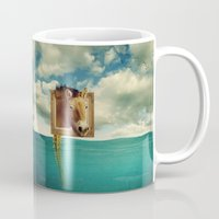 sea horse Mugs featuring Sea Horse by Ross Sinclair
