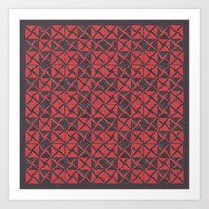 Patternsmith Triangles Red Art Print