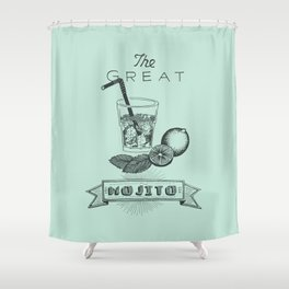 The Great Mojito Shower Curtain