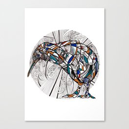 Geometric kiwi Canvas Print