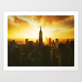 new york city landmark Art Print