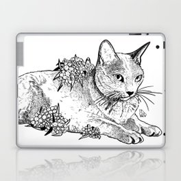 Cat and acacias Laptop & iPad Skin