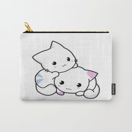 Twin Little Kitty Cat Carry-All Pouch