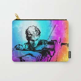 Violin player, violinist musician playing classical music. Music festival concert. Carry-All Pouch