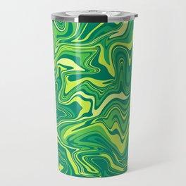 Green Nature Liquid Agate Travel Mug