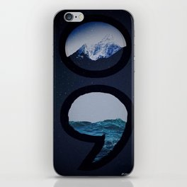 Keep Going Over Mountains and Never Sink iPhone Skin