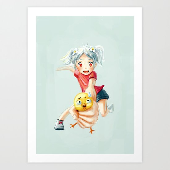 Chicken Grab Art Print