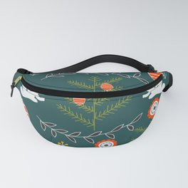 Winter holidays with bunnies Fanny Pack
