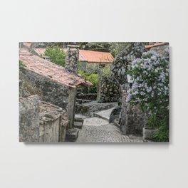Old streets of Sortelha, Portugal Metal Print