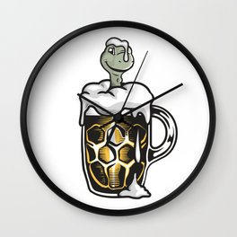 The Thirsty Turtle Wall Clock