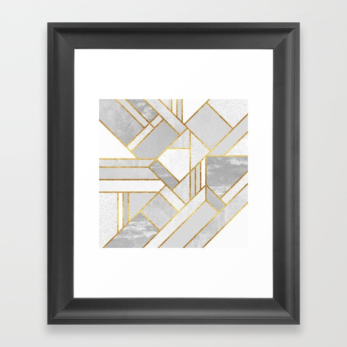 Gold City Gerahmter Kunstdruck