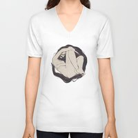 circle V-neck T-shirts featuring My Simple Figures: The Circle by Anton Marrast