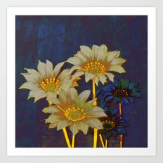 night floral Art Print