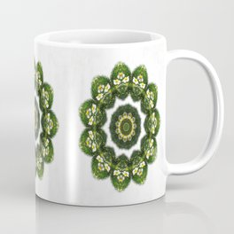 Little White Wildflower Kaleidoscope Art 4 Coffee Mug