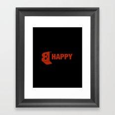 B-HAPPY #2 Framed Art Print