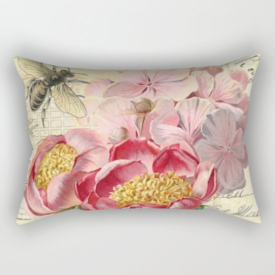 Vintage Flowers #20 Rectangular Pillow