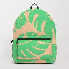 Monstera Leaf Print 3 Backpack