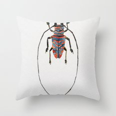 Beetle Watercolor I Throw Pillow