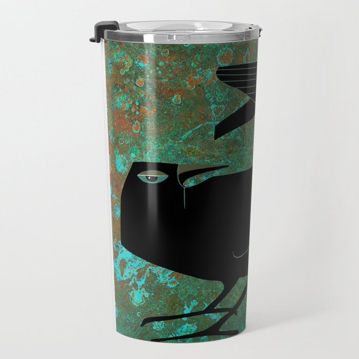 Odin's Ravens Huginn and Muninn Travel Mug
