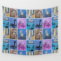 shoe Wall Tapestries featuring Shoe Pop Collector by Sheila Fein Fantasy Pop