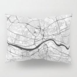 Newcastle upon Tyne Map Gray Pillow Sham
