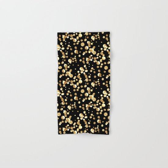 Golden confetti. Brilliant . Hand & Bath Towel