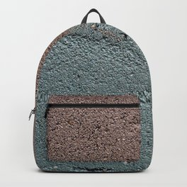 Silver Waves on Concrete Backpack