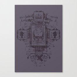 Sinful POSTCARD Canvas Print