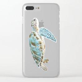 Sea turtle underwater Clear iPhone Case