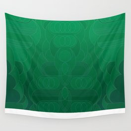Round and About Emerald Wall Tapestry