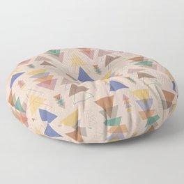 Minimalist Geometric Pendants in Earthtone Floor Pillow