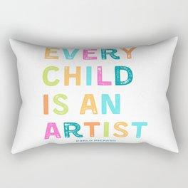 Every child is an artist Rectangular Pillow