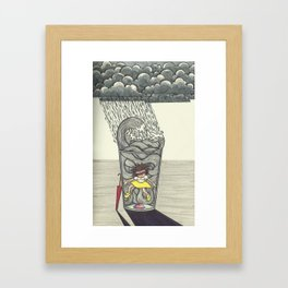 Thunder inside a Water cup Framed Art Print