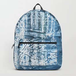 Steel blue nebulous wash drawing paper Backpack