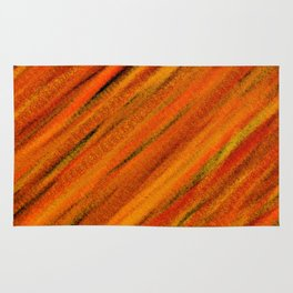 Rough Red Embers Abstract Rug