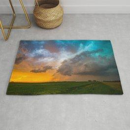 Glorious - Stormy Sky and Kansas Sunset Rug