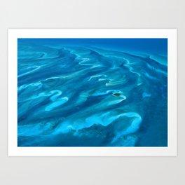 Dramatic Blue Ocean Waves Art Print