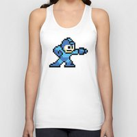mega man Tank Tops featuring Pixelated Mega Man by Katadd