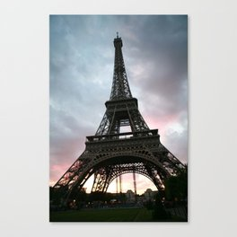 Cotton Candy Sky Eiffel Canvas Print