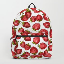 Watercolor Strawberries Backpack