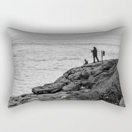 Fishing the Irish Coast Rectangular Pillow