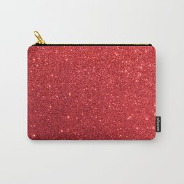 Ruby Red July Leo Birthstone Shimmering Glitter Carry-All Pouch
