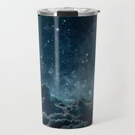 Backgrounds night sky with stars and moon and clouds Travel Mug