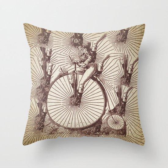 crazy penny Throw Pillow