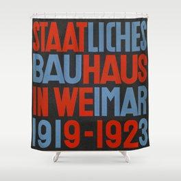 Staatliches Bauhaus in Weimar - László Moholy-Nagy - Art Print Shower Curtain