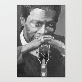 The King of Blues - BB King Canvas Print