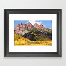 Autumn Gold and Maroon Framed Art Print
