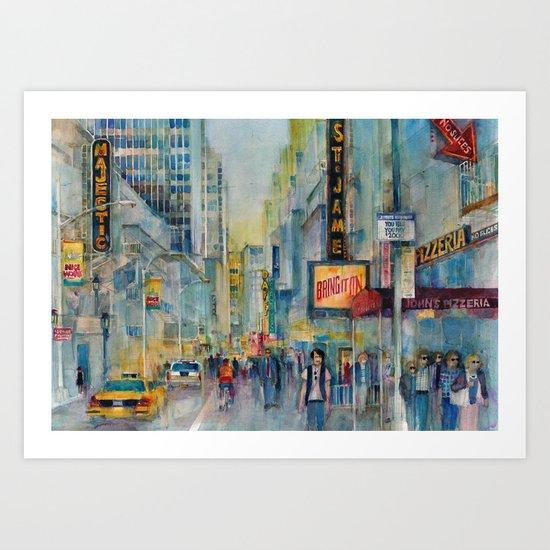Broadway,  New York - Five O'Clock Revised Art Print
