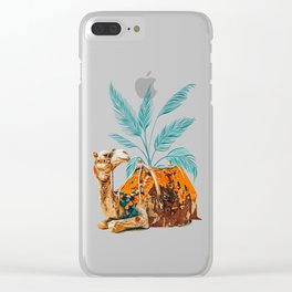 Camel Ride Clear iPhone Case